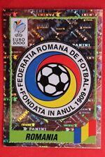 Panini EURO 2000 N. 26 ROMANIA BADGE New With BLACK back MINT!!