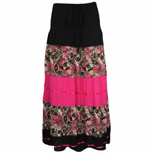 Cotton Floral Plus Size Maxi Skirts for Women