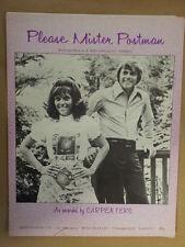 song sheet PLEASE MISTER POSTMAN Carpenters 1962