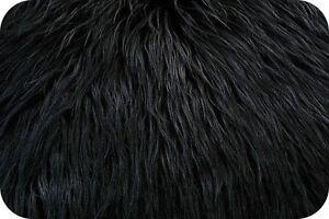 Black Mongolian Faux Fur Photo Prop Newborn Nest 18 x 30 Inches Photography