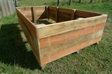 Timber Raised Garden Beds - 100% natural Hardwood planter boxes - 1800x900x400