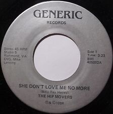 THE HIP MOVERS ~ HARD ROCK indie NEW WAVE ~ RICHMOND private 45 GENERIC hear