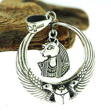 Egyptian Silver Royal Wadjet W/ Scarab Surround Bastet