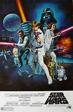 Star Wars: A New Hope Vintage Movie Art Poster Print 27X40 (69X101.5cm)