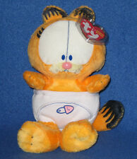 TY BABY GARFIELD the CAT in DIAPERS BEANIE BABY - NEW - MINT with MINT TAGS