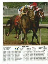 "2007 - STREET SENSE winning Kentucky Derby w/Lifetime Racing History - 8"" x 10"""