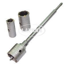 30 40 50mm Impact Wall Masonry Brick Stone Drill Bit Hole Saw SDS+ Shaft Cutter