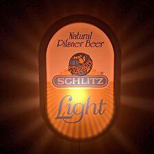 Rare Vintage Vtg 1977 Schlitz Light Natural Pilsner Beer Lighted Sign Working