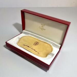 CARTIER must de Cartier Eyeglass Box with Cleaning cloth