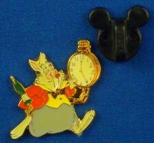 White Rabbit with Watch from Alice in Wonderland 1996 Tin Disney Pin # 39859