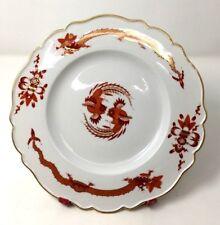 "Antique Rare Meissen Red Opulent Court Dragon Dinner Plate 10 1/2"" Circa 1924"