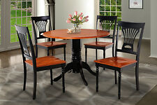 "42"" BURLINGTON DINETTE DINING TABLE SET WITH 9"" DROP LEAVES IN BLACK CHERRY"