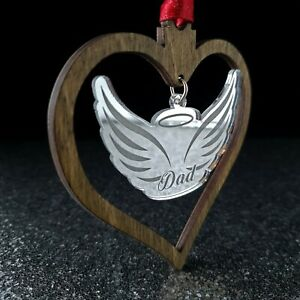 Personalised Christmas Bauble Memorial hand made Tree Decoration