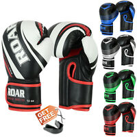 ROAR Boxing Training Gloves MMA Sparring Fight Mitts With Get Free Hand Wraps
