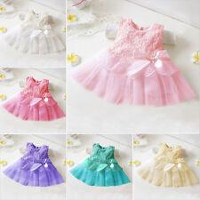 Baby Mädchen Kinder Kleid Hochzeit Abendkleid Sommer Festkleid Neugeborenes DE
