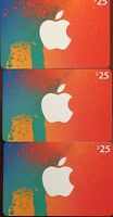 Canadian iTunes Cards 3 X $25 $75 total.  For use in the Canadian iTunes Store
