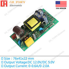 Double Road 5V 12V 17W Switching Power Supply Buck Converter Step Down Module US