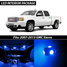 2007-2013 GMC Sierra Blue Interior LED Lights Package Kit