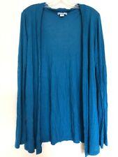 Cotton On Women's Blue Open Front Sweater Size Medium Thin