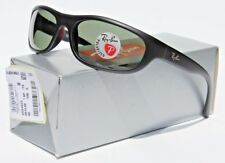 RAY-BAN Predator POLARIZED Sunglasses Matte Black/Green Gray RB4033 Italy NEW