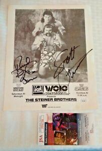 STEINER Rick Scott Dual Signed JSA 8x10 Event Promo Photo WWF WWE WCW 1993 Auto