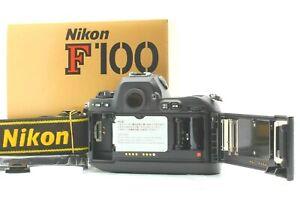 【UNUSED in BOX with STRAPS】 Nikon F100 35mm Black Film Camera from JAPAN #NI-961