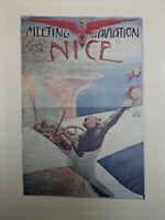 Affiche Originale - Aviation Meeting aérien Nice 1910 Edena Musée de l'Air
