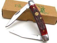 Elk Ridge ER-211MRB Red Bone Gentleman's 2 Blade Folding Pocket Knife