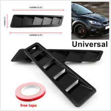 2pcs Universal Carbon Fiber Look Hood Vent Louver Cooling Panel Exterior Kit ABS