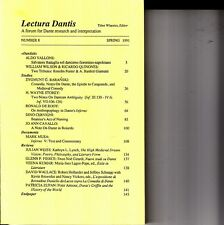 Lectura Dantis A Forum for Dante Research #8 Spring 1991 Tibor Wlassics