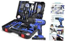 Power Tools Combo Kit, Tool Set with 21V Cordless Drill Set and Hand Tools