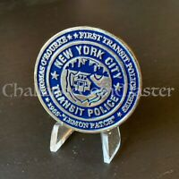 C83 NYPD New York Transit Police Lemon Patch CHALLENGE  COIN