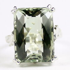 Green Amethyst (Prasiolite), 925 Sterling Silver Ladies Ring, SR039-Handmade