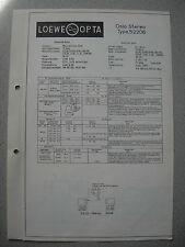 LOEWE OPTA Typ 52206 Oslo Stereo Service Manual, Stand 04/64