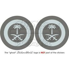 """SAUDI ARABIA AirForce LowVis Aircraft Roundel 75mm (3"""") Vinyl Stickers Decals x2"""