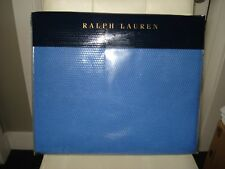 RALPH LAUREN Palmer Collection King Bed BLANKET French Blue Cotton Knit