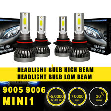 2 Pairs 9005 9006 Head Lamp Coversion LED High Beam Bulb Set 97500LM 650W White