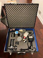 Konica FT-1 Motor Camera Body w/3 Lenses Sunpak Flash Custom Case & Extras