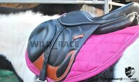 "Horse Jumping leather saddle (Available size 16"" 17"" 18"")"