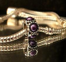 Bead Element Spacer Purple Perlen Farbe Antiksilber Silber für Armband 0378