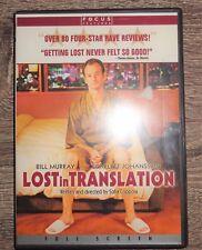 Lost in Translation Dvd 2004 Full Screen