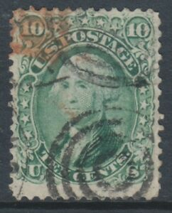 USA - 1861, 10c Yellow Green or green stamp - Used - SG 64 or 64a