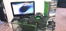 X box classic mit 4 Controller und allen Anschlusskabeln + 25 Spiele.