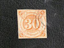 TIMBRES D'ALLEMAGNE : 1859 TOUR ET TAXIS ETATS DU SUD - YVERT N° 41 Obl. COURT
