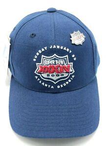 2000 SUPERBOWL XXXIV (RAMS v. TITANS) blue adjustable cap / hat *NEW* w/ pin
