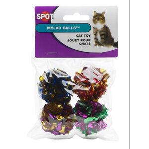 Spot Ethical Mylar Crinkle Balls (4 per Pack) Free Shipping