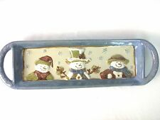 "St. Nicholas Square ""Forest Friends"" Serving Tray 15""L x 4 1/2""W"