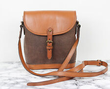 MULBERRY Tan Brown Leather Scotchgrain Small Vintage Satchel Saddle Shoulder Bag