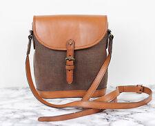 MULBERRY Tan Brown Leather Scotchgrain Small Vintage Satchel Saddle Shoulder Bag