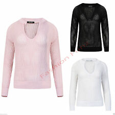 Polyester V Neck None Jumpers & Cardigans for Women